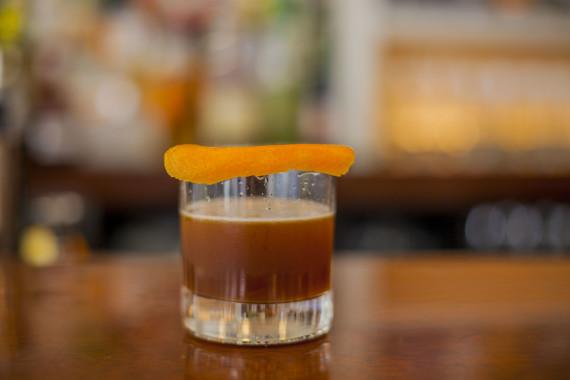Chai Infused Vodka, Punt-e-Mes, Don Ciccio Nocino, Lemon Juice, Demerara Syrup with an Orange Peel