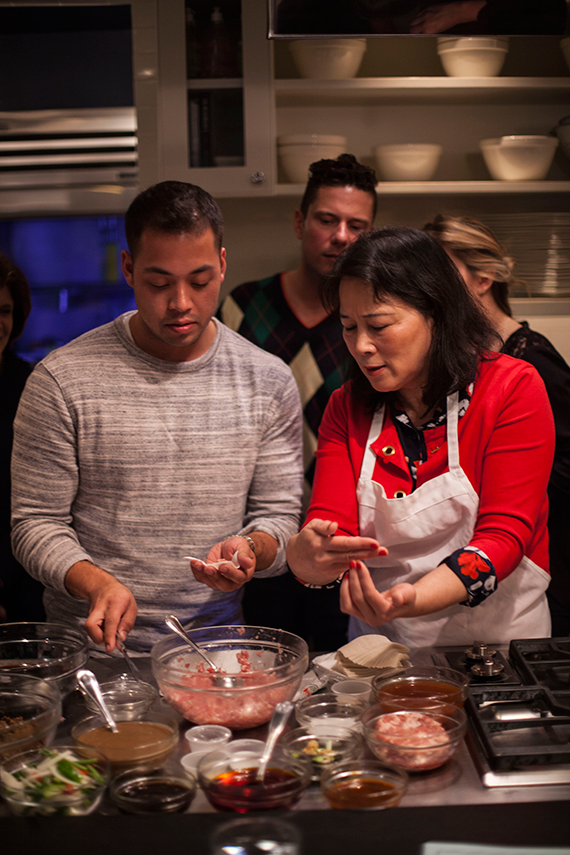 A hands-on wonton lesson from Jane G herself!